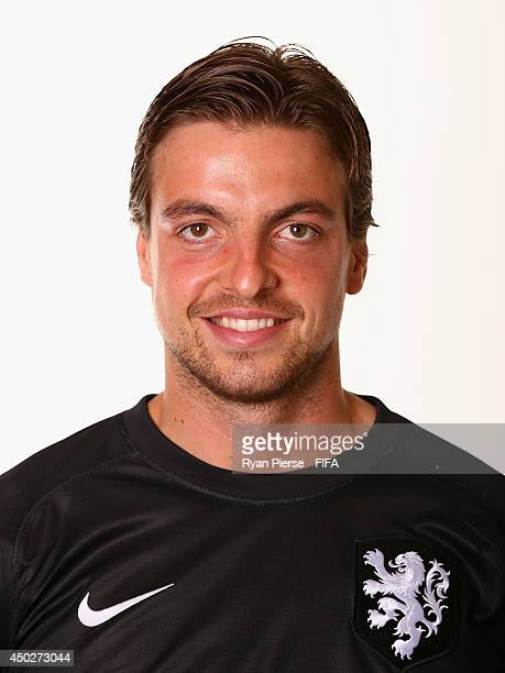 Tim Krul of Netherlands poses during the official FIFA World Cup 2014 portrait session on June 7 2014 in Rio de Janeiro Brazil