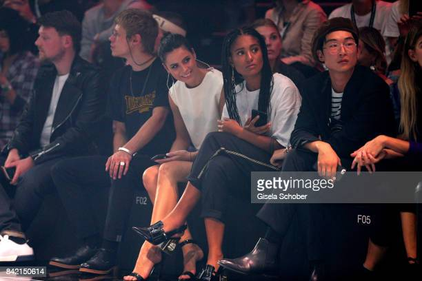 Tim Labenda Jesper Munk Lena MeyerLandrut Lary Poppins and Sang Woo Kim attend the Zalando A/W 17 women fashion show during the Bread Butter by...