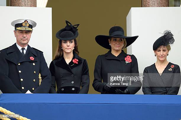 Tim Lawrence Catherine Duchess of Cambridge Queen Maxima of the Netherlands and Sophie Countess of Wessex attend the annual Remembrance Sunday...