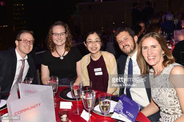 Tim Levin Elizabeth Godbey Dr Juliana Hsu Mark Silver and Grace Rauh attend the NYSCF Gala Science Fair at Jazz at Lincoln Center on October 16 2017...