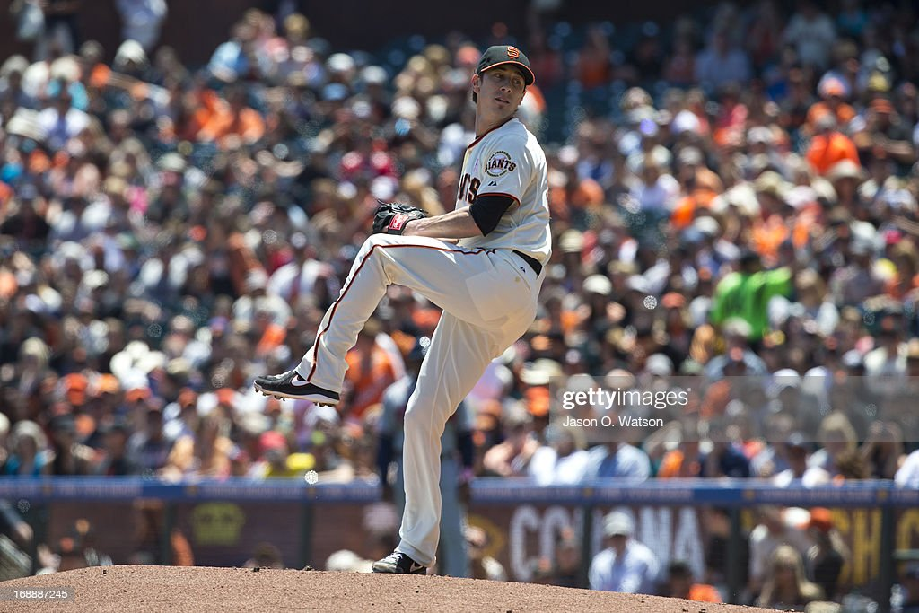 <a gi-track='captionPersonalityLinkClicked' href=/galleries/search?phrase=Tim+Lincecum&family=editorial&specificpeople=4175405 ng-click='$event.stopPropagation()'>Tim Lincecum</a> #55 of the San Francisco Giants pitches against the Atlanta Braves during the first inning at AT&T Park on May 12, 2013 in San Francisco, California. The San Francisco Giants defeated the Atlanta Braves 5-1.