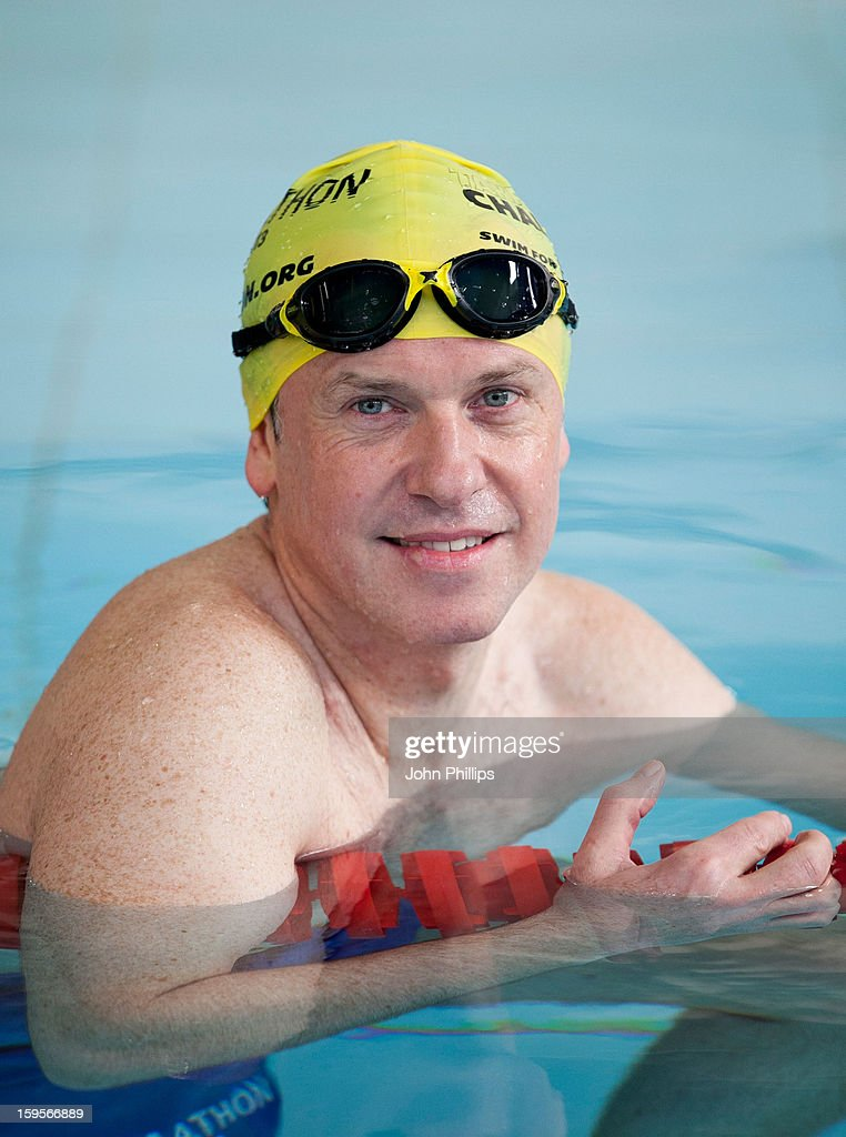 Tim Lovejoy attends a photocall to announce the 2013 Swimathon Squad on January 16, 2013 in London, England.