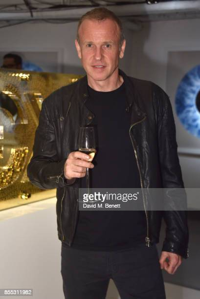 Tim Lovejoy attends a private view of artist Chemical X's new exhibition 'CX300' at The Vinyl Factory on September 28 2017 in London England