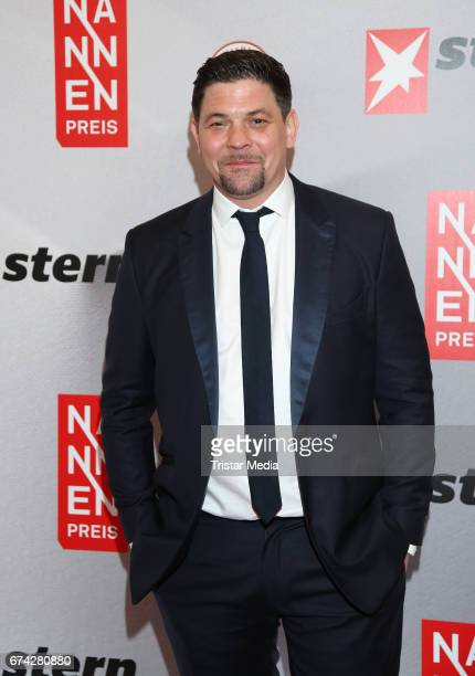 Tim Maelzer during the Henri Nannen Award red carpet arrivals on April 27 2017 in Hamburg Germany