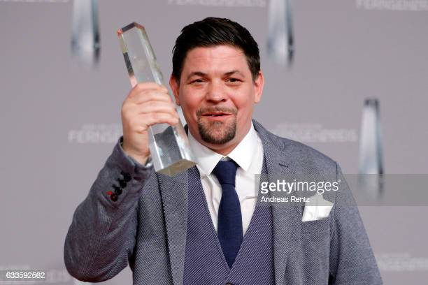 Tim Maelzer poses with his award at the German Television Award at Rheinterrasse on February 2 2017 in Duesseldorf Germany