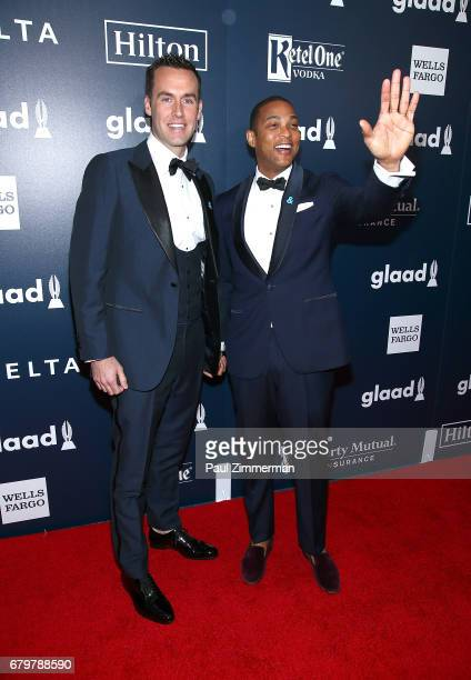 Tim Malone and Don Lemon attends the 28th Annual GLAAD Awards at New York Hilton Midtown on May 6 2017 in New York City