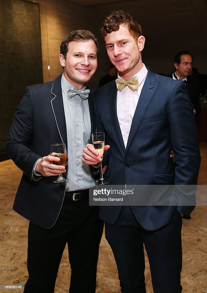 Tim Mathewson (L) and guest attend the School of American Ballet 2013 Winter Ball at David H. Koch Theater, Lincoln Center on March 11, 2013 in New York City.