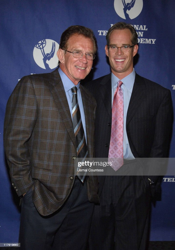 Tim McCarver and Joe Buck during 26th Annual Sports Emmy Awards - Arrivals at Frederick P. Rose Hall at Jazz at Lincoln Center in New York City, New York, United States.