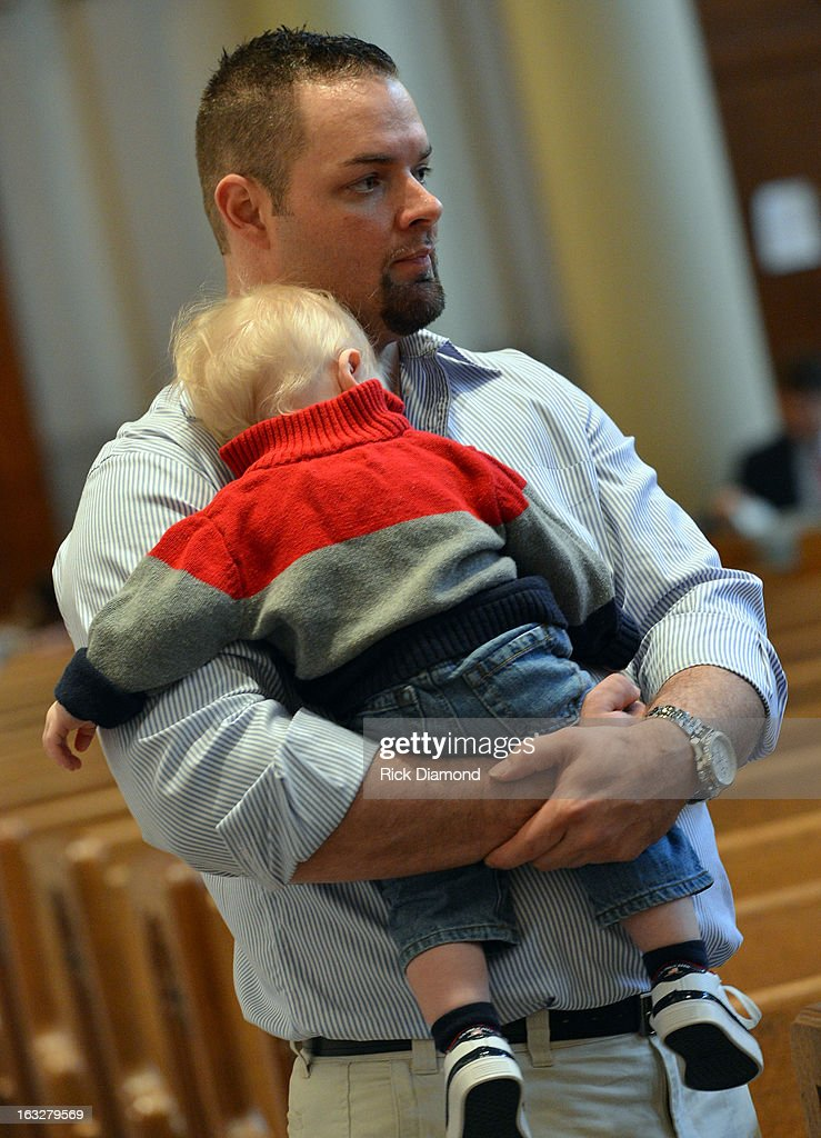 Tim McCready - Mindy's Brother attends the memorial service for Mindy McCready at Cathedral of the Incarnation on March 6, 2013 in Nashville, Tennessee. McCready was found dead from an apparent suicide on February 17, 2013 at her home in Heber Springs, Arkansas.