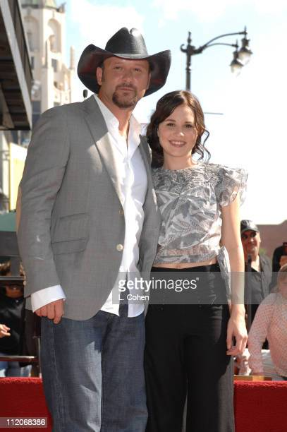 Tim McGraw and Alison Lohman during Tim McGraw Honored With A Recording Star On The Hollywood Walk of Fame at Hollywood Blvd in Hollywood California...