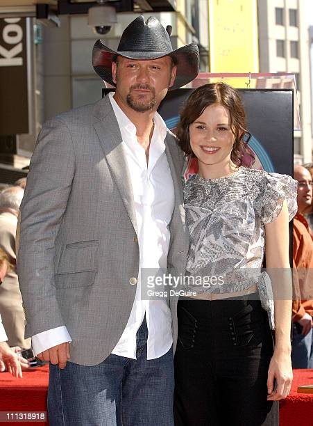 Tim McGraw and Alison Lohman during Tim McGraw Receives a Recording Star On The Hollywood Walk of Fame at Hollywood Blvd in Hollywood California...