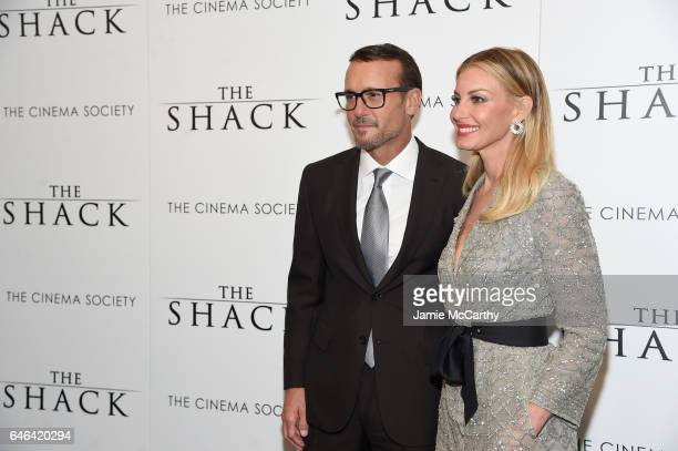 Tim McGraw and Faith Hill attend Lionsgate Hosts the World Premiere of 'The Shack' at the Museum of Modern Art on February 28 2017 in New York City