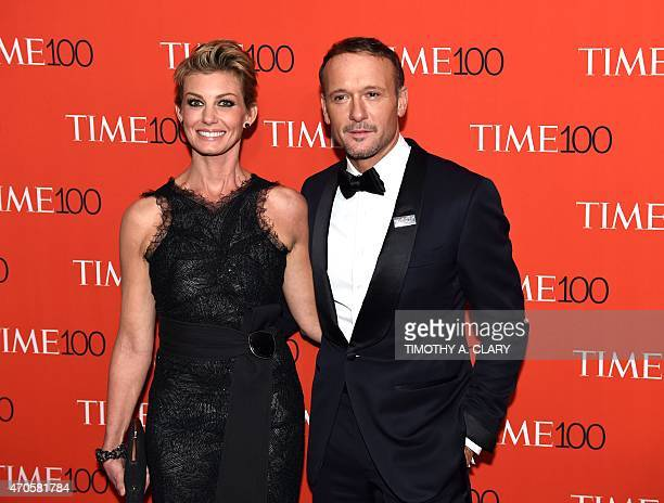 Tim McGraw and Faith Hill attend the Time 100 Gala celebrating the Time 100 issue of the Most Influential People at The World at Jazz at Lincoln...