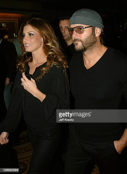 Tim McGraw and Faith Hill during Earth to America After Party at PURE Night Club Inside at PURE Night Club Caesar's Palace in Las Vegas Nevada United...