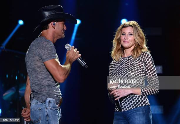 Tim McGraw and Faith Hill perform onstage at the 2014 CMA Festival on June 5 2014 in Nashville Tennessee
