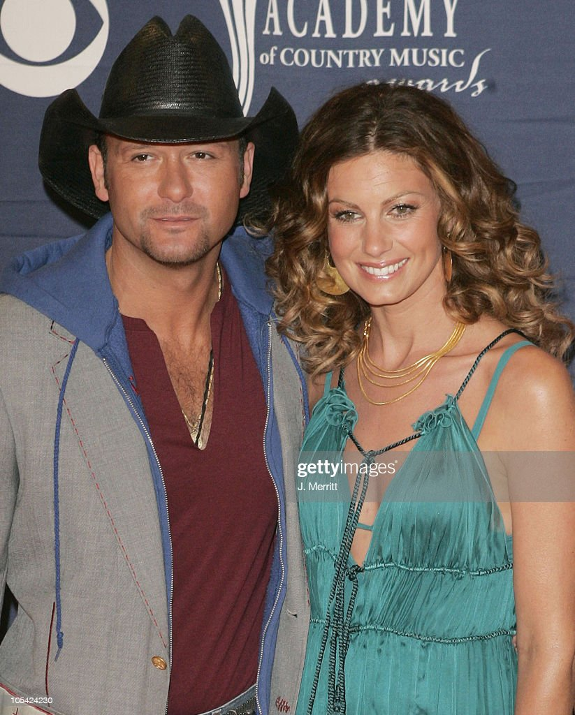 Tim McGraw and wife Faith Hill during 40th Annual Academy of Country Music Awards - Orange Carpet at Mandalay Bay Resort & Casino in Las Vegas, Nevada, United States.