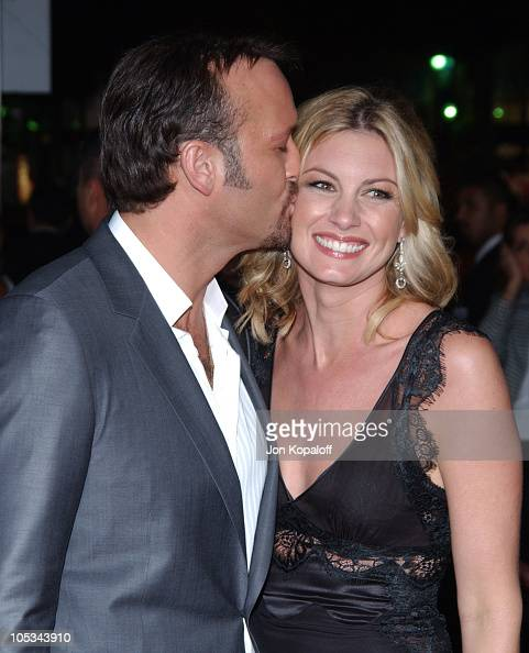 Tim McGraw and wife Faith Hill during 'Friday Night Lights' World Premiere at Grauman's Chinese Theatre in Hollywood California United States