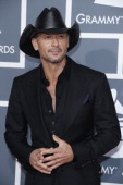 Tim McGraw arrives at the 55th Annual Grammy Awards at the Staples Center on February 10 2013 in Los Angeles California