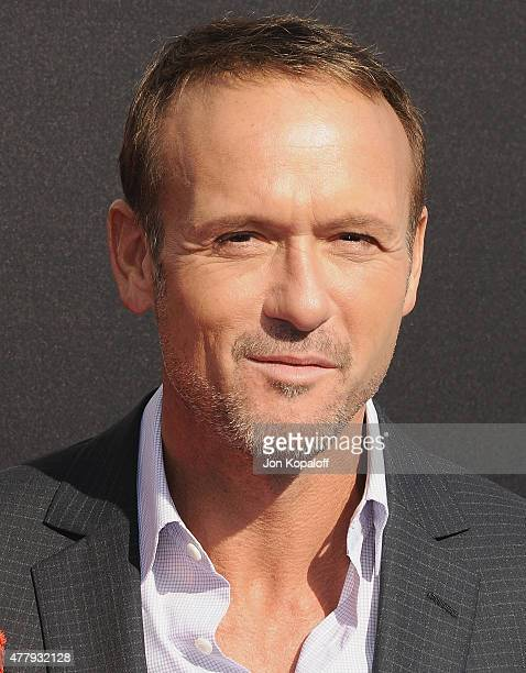 Tim McGraw arrives at the Los Angeles Premiere of Disney's 'Tomorrowland' at AMC Downtown Disney on May 9 2015 in Lake Buena Vista Florida