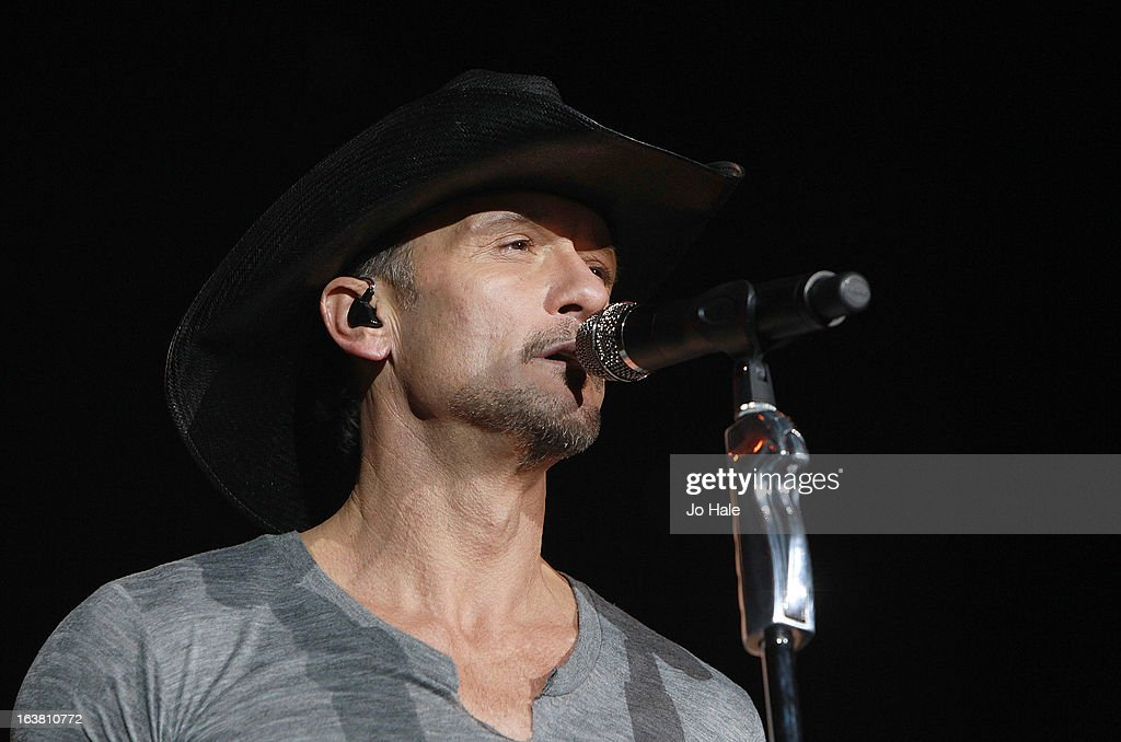 Tim McGraw at O2 Arena on March 16, 2013 in London, England.