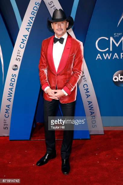 Tim McGraw attends the 51st annual CMA Awards at the Bridgestone Arena on November 8 2017 in Nashville Tennessee
