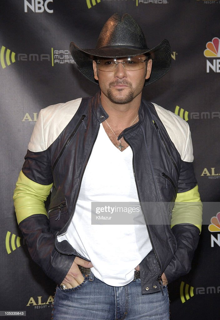 <a gi-track='captionPersonalityLinkClicked' href=/galleries/search?phrase=Tim+McGraw&family=editorial&specificpeople=202845 ng-click='$event.stopPropagation()'>Tim McGraw</a> during 2003 Radio Music Awards - Arrivals and Backstage at The Aladdin Hotel and Casino in Las Vegas, Nevada, United States.