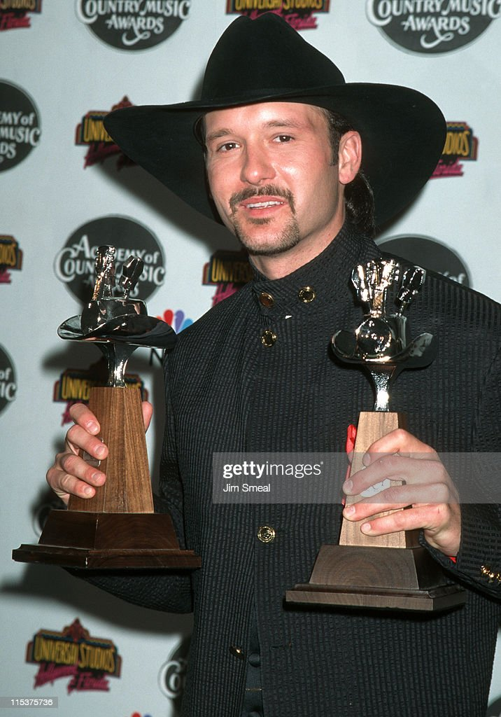 <a gi-track='captionPersonalityLinkClicked' href=/galleries/search?phrase=Tim+McGraw&family=editorial&specificpeople=202845 ng-click='$event.stopPropagation()'>Tim McGraw</a> during 30th Annual Academy of Country Music Awards at Universal Amphitheatre in Universal City, California, United States.