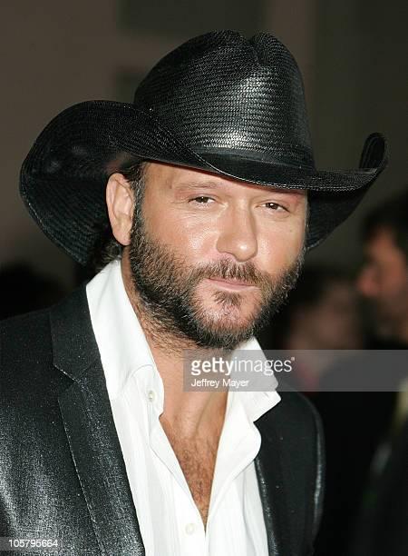 Tim McGraw during 33rd Annual American Music Awards Arrivals at Shrine Auditorium in Los Angeles California United States