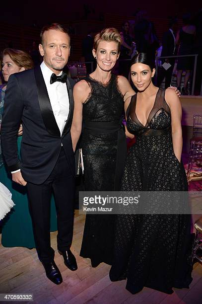 Tim McGraw Faith Hill and Kim Kardashian attend TIME 100 Gala TIME's 100 Most Influential People In The World at Jazz at Lincoln Center on April 21...