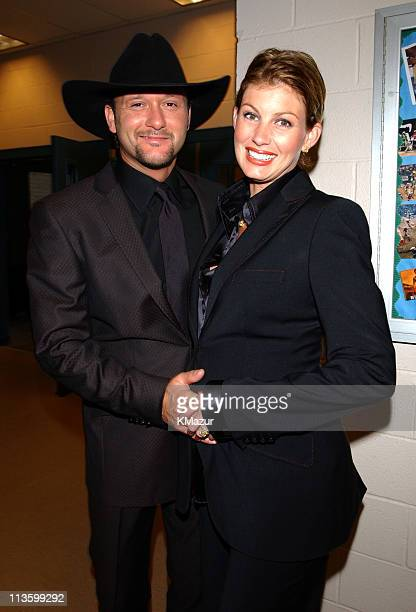 Tim McGraw Faith Hill during Andre Agassi's 6th Grand Slam for Children Fundraiser Backstage Auction at MGM Grand Hotel in Las Vegas Nevada