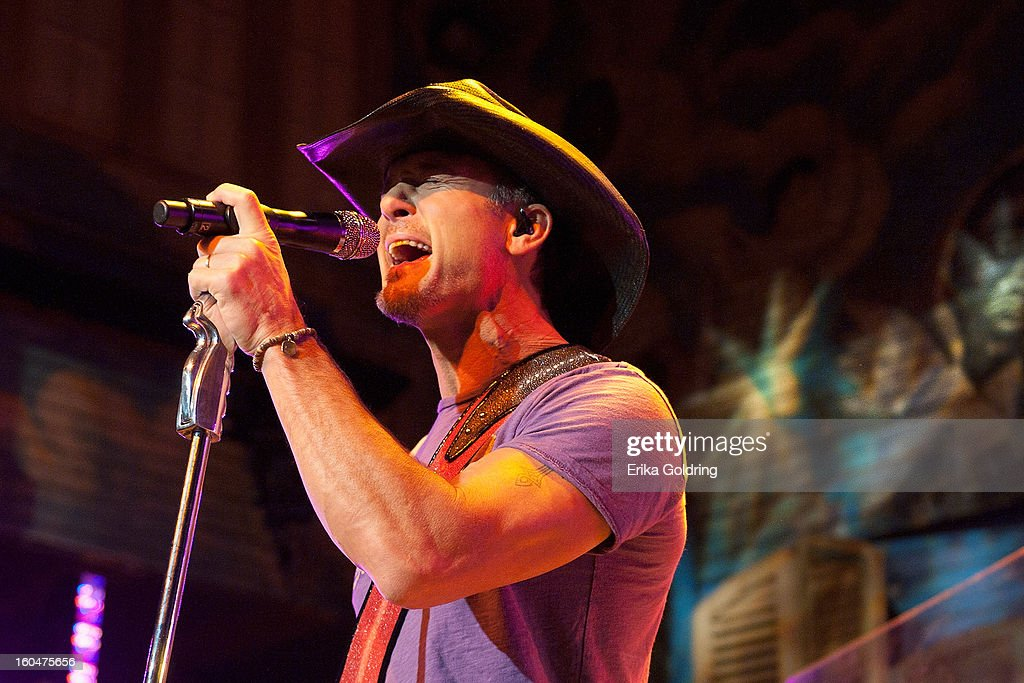 Tim McGraw performs at the House of Blues on February 1, 2013 in New Orleans, Louisiana.