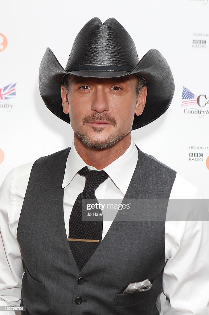 <a gi-track='captionPersonalityLinkClicked' href=/galleries/search?phrase=Tim+McGraw&family=editorial&specificpeople=202845 ng-click='$event.stopPropagation()'>Tim McGraw</a> poses backstage on Day 1 of C2C: Country To Country Festival 2013 at O2 Arena on March 16, 2013 in London, England.
