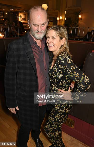 Tim McInnerny and Penny Smith attend the press night after party for 'The Kite Runner' at Wyndhams Theatre on January 10 2017 in London England