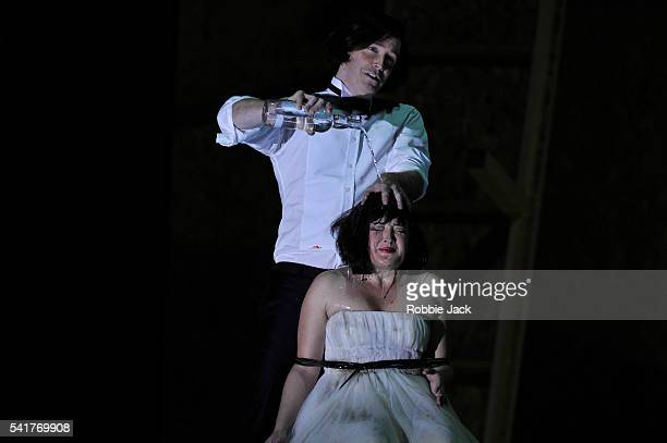 Tim Mead as Ptolemy and Anna Christy as Cleopatra in English National Opera's production of George Frideric Handel's Julius Caesar directed by...