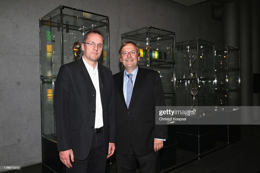 <a gi-track='captionPersonalityLinkClicked' href=/galleries/search?phrase=Tim+Meyer&family=editorial&specificpeople=623213 ng-click='$event.stopPropagation()'>Tim Meyer</a>, team doctor the German Football Association and <a gi-track='captionPersonalityLinkClicked' href=/galleries/search?phrase=Rainer+Koch&family=editorial&specificpeople=2168224 ng-click='$event.stopPropagation()'>Rainer Koch</a>, vice president of the German Football Association pos prior to the doping duscussion at DFB headquarter on August 20, 2013 in Frankfurt am Main, Germany.