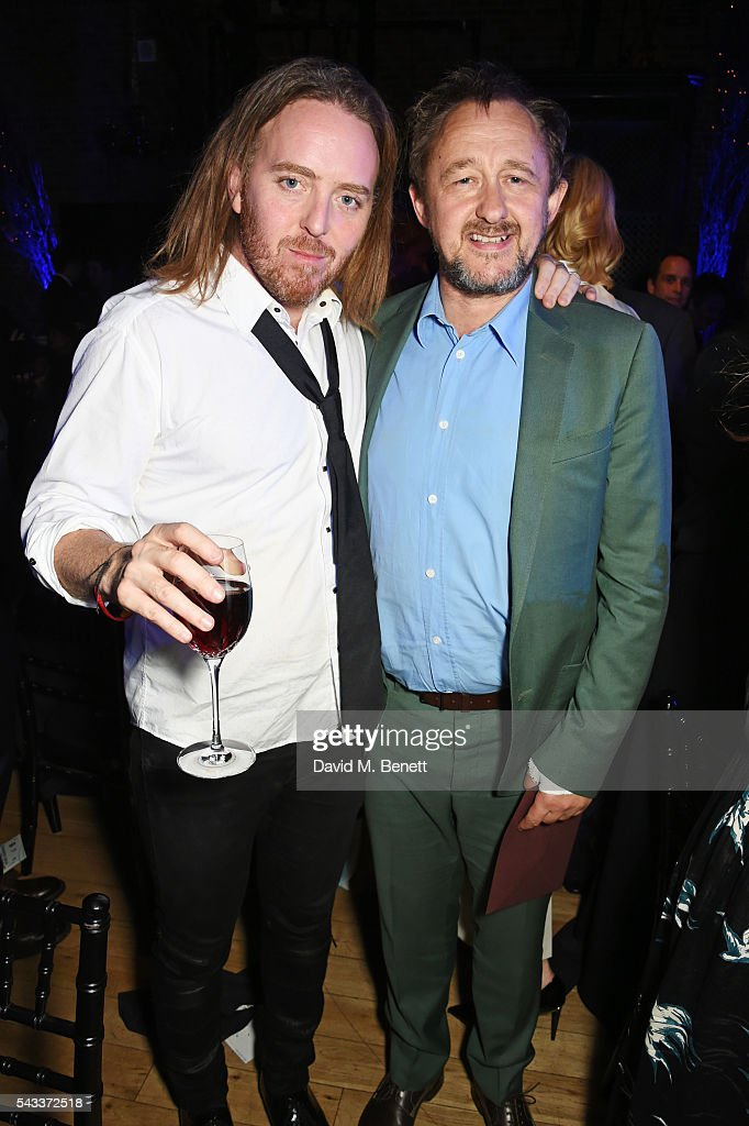 <a gi-track='captionPersonalityLinkClicked' href=/galleries/search?phrase=Tim+Minchin&family=editorial&specificpeople=2244352 ng-click='$event.stopPropagation()'>Tim Minchin</a> (L) and <a gi-track='captionPersonalityLinkClicked' href=/galleries/search?phrase=Andrew+Upton&family=editorial&specificpeople=213980 ng-click='$event.stopPropagation()'>Andrew Upton</a> attend the Summer Gala for The Old Vic at The Brewery on June 27, 2016 in London, England.