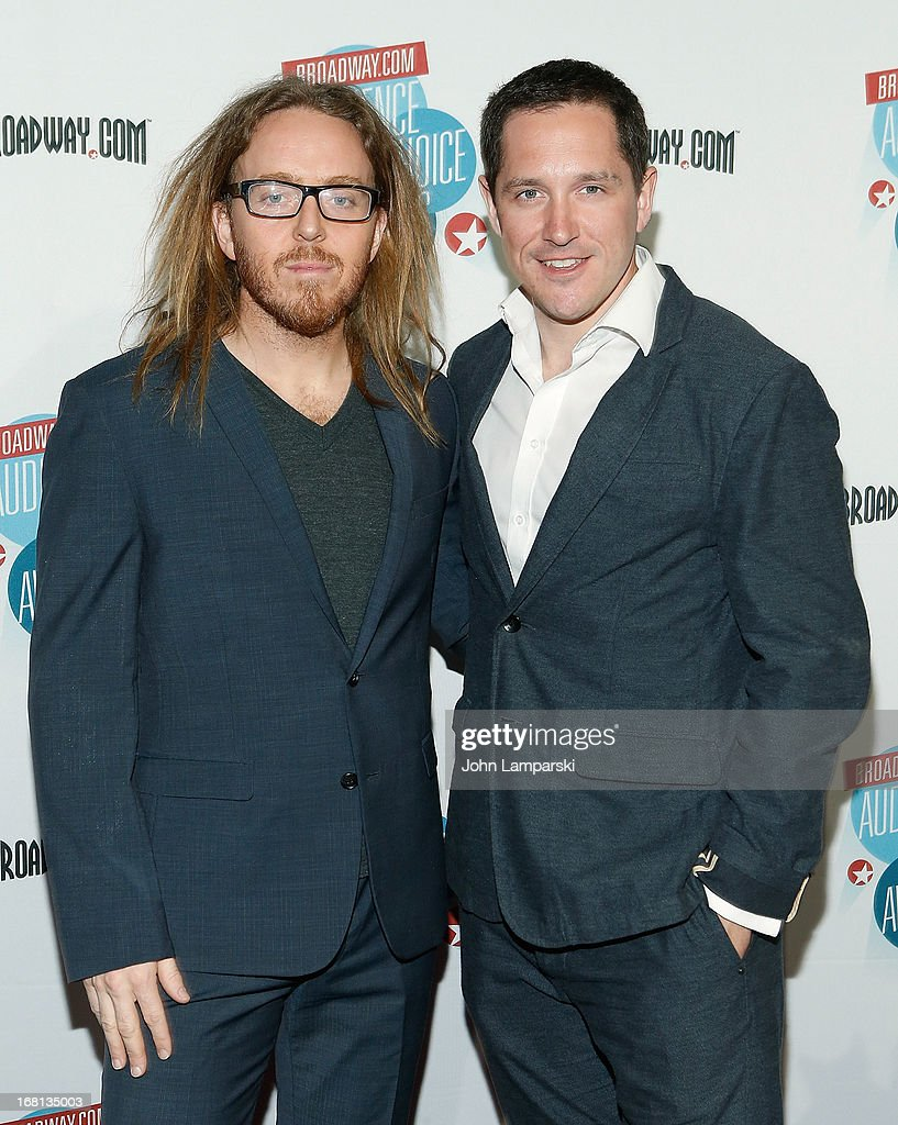 <a gi-track='captionPersonalityLinkClicked' href=/galleries/search?phrase=Tim+Minchin&family=editorial&specificpeople=2244352 ng-click='$event.stopPropagation()'>Tim Minchin</a> and Bertie Carvel attend The 2013 Broadway.com Audience Choice Awards at Jazz at Lincoln Center on May 5, 2013 in New York City.