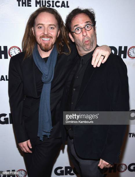 Tim Minchin and Danny Rubin attend the 'Groundhog Day' Broadway Opening Night at Gotham Hall on April 17 2017 in New York City