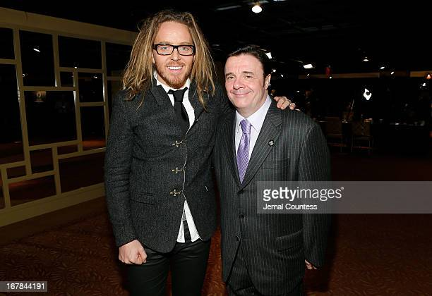 Tim Minchin and Nathan Lane attend the 2013 Tony Awards Meet The Nominees Press Reception on May 1 2013 in New York City