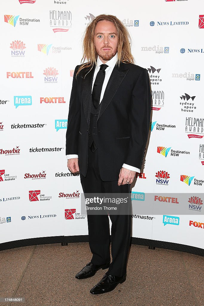Tim Minchin arrives at the 2013 Helpmann Awards at the Sydney Opera House on July 29, 2013 in Sydney, Australia.
