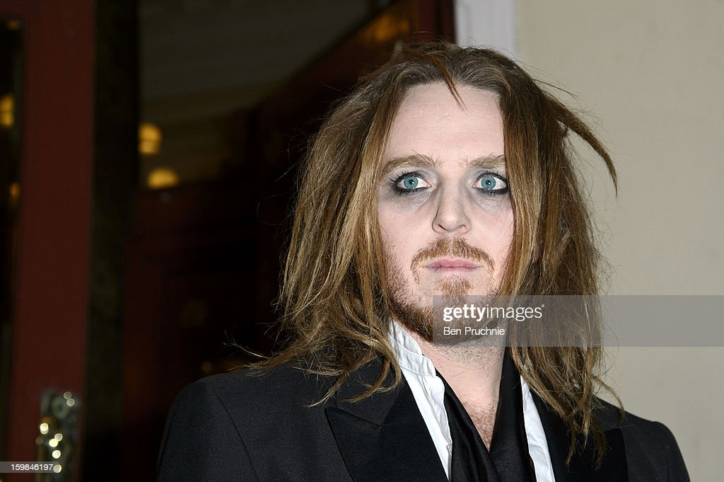 <a gi-track='captionPersonalityLinkClicked' href=/galleries/search?phrase=Tim+Minchin&family=editorial&specificpeople=2244352 ng-click='$event.stopPropagation()'>Tim Minchin</a> attends the opening night of The Rocky Horror Picture Show at New Wimbledon Theatre on January 21, 2013 in Wimbledon, England.