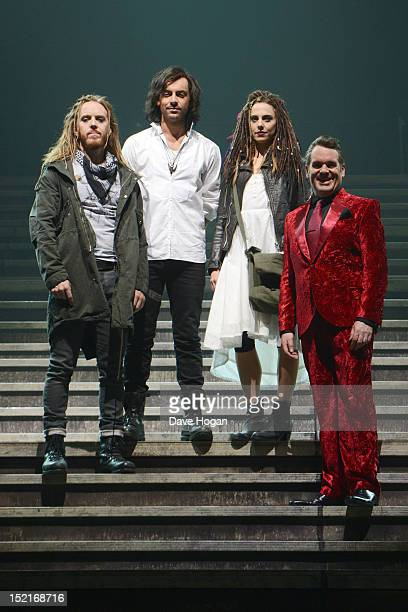 Tim Minchin Ben Forster Chris Moyles and Melanie C attend a photocall for Jesus Christ Superstar at LH2 Studios on September 17 2012 in London England