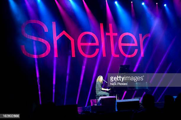 Tim Minchin performs at Stand up for Shelter at Hammersmith Apollo on February 27 2013 in London England