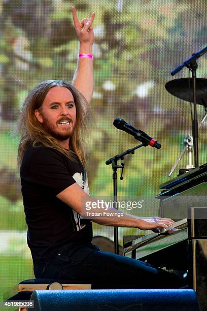 Tim Minchin performs on stage at British Summer Time Festival at Hyde Park on July 10 2014 in London United Kingdom