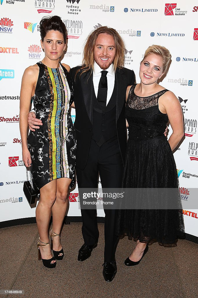 Tim Minchin, Sarah Minchin and Nel minchin arrives at the 2013 Helpmann Awards at the Sydney Opera House on July 29, 2013 in Sydney, Australia.
