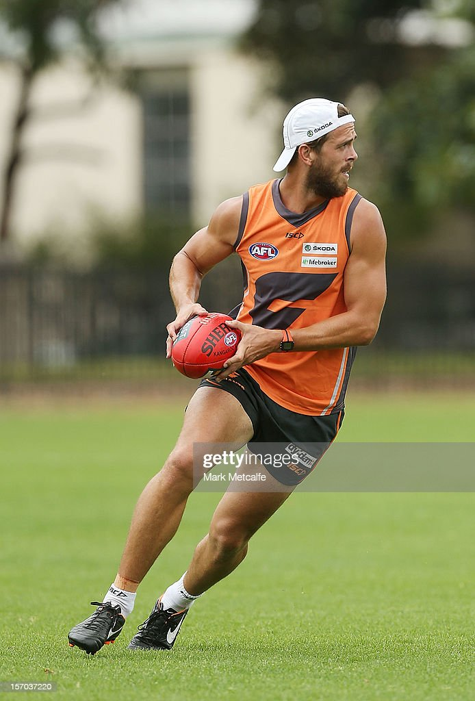 Tim Mohr in action during a Greater Western Sydney Giants AFL pre-season training session at Lakeside Oval on November 28, 2012 in Sydney, Australia.