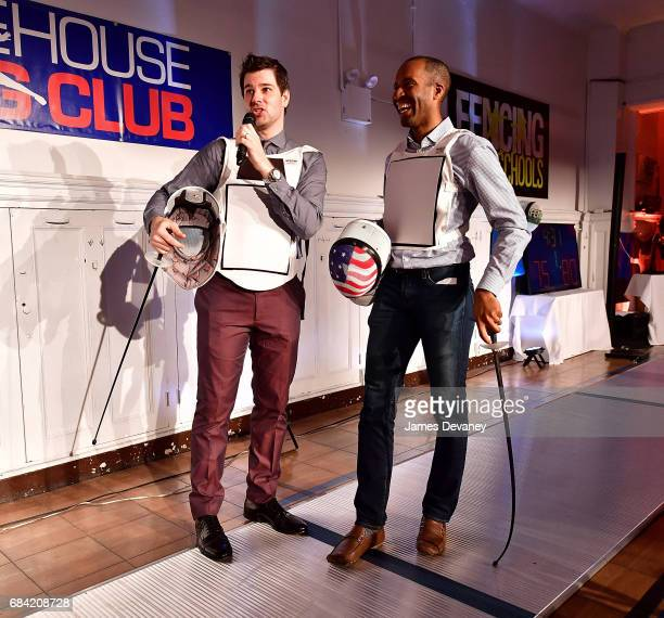 Tim Morehouse and Keeth Smart attend the 5th Annual Fencing In The Schools Gala at Tim Morehouse Fencing Club on May 16 2017 in New York City