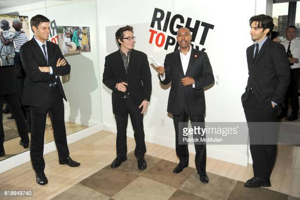 Tim Morehouse Matt Doyle Jeffrey Orridge and Jason Rogers attend RIGHT TO PLAY 'En Garde' Charity Cocktail Party at Barneys New York on May 13 2010...