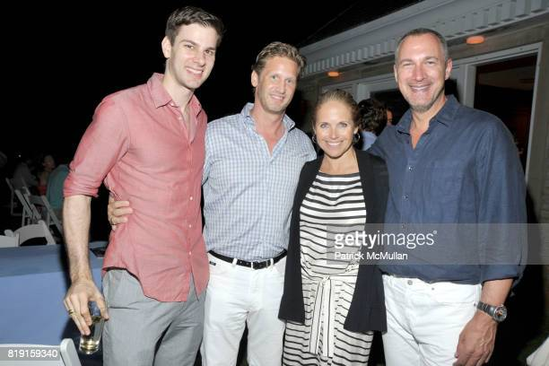 Tim Morehouse Ward Simmons Katie Couric and Edward Menicheschi attend THE CINEMA SOCIETY with VANITY FAIR HUGO BOSS host the after party for 'DINNER...