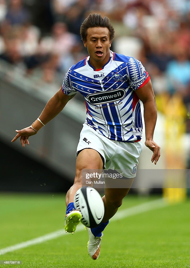 Tim NanaiWilliams of Samoa in action during the International Friendly match between The Barbarians and Samoa at Olympic Stadium on August 29 2015 in...